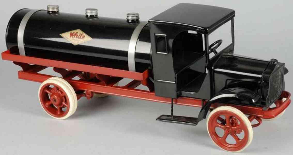 kelmet pressed steel toy big boy tank truck black