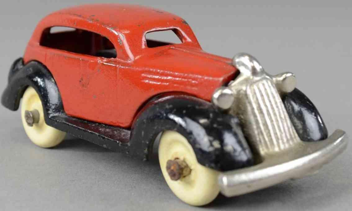 kenton hardware co spielzeug gusseisen auto 1936 auto rot schwarz
