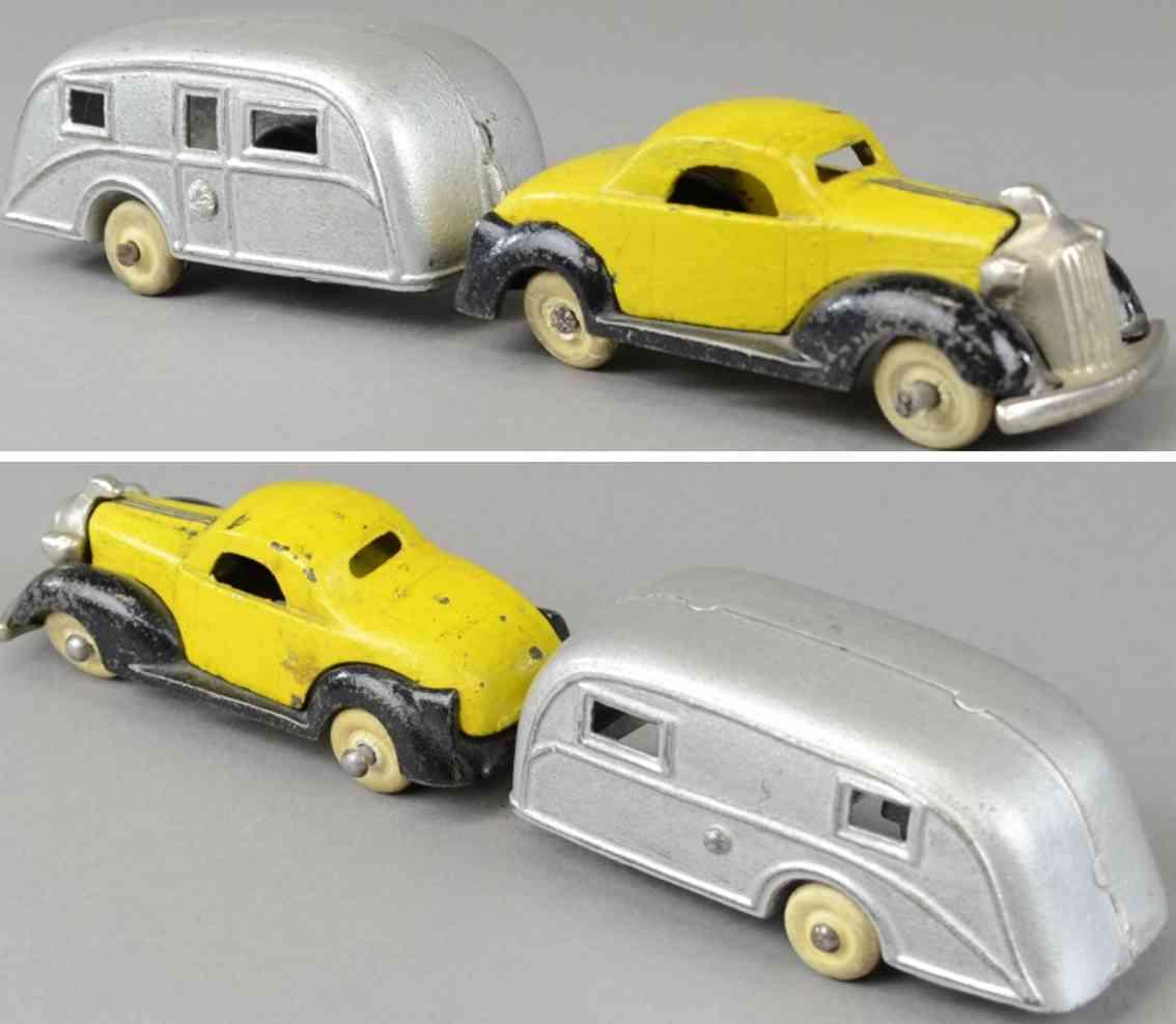 kenton hardware co spielzeug gusseisen auto 1936 pontiac coupe wohnwagen