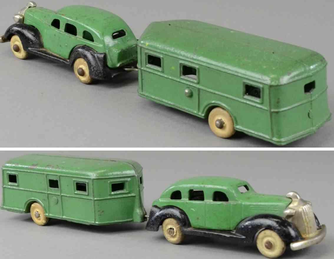 kenton hardware co gusseisen 1936 pontiac auto wohnwagen  gruen schwarz