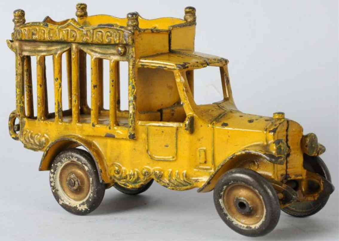 kenton hardware co 406 gusseisen zirkuskaefigwagen gelb