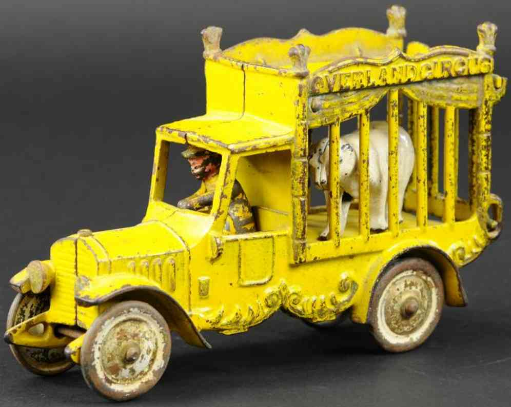 kenton hardware co 406 gusseisen gelb zirkuskaefiglastwagen baer