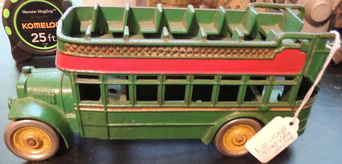 kenton hardware co 522 spielzeug gusseisen doppeldeckerbus