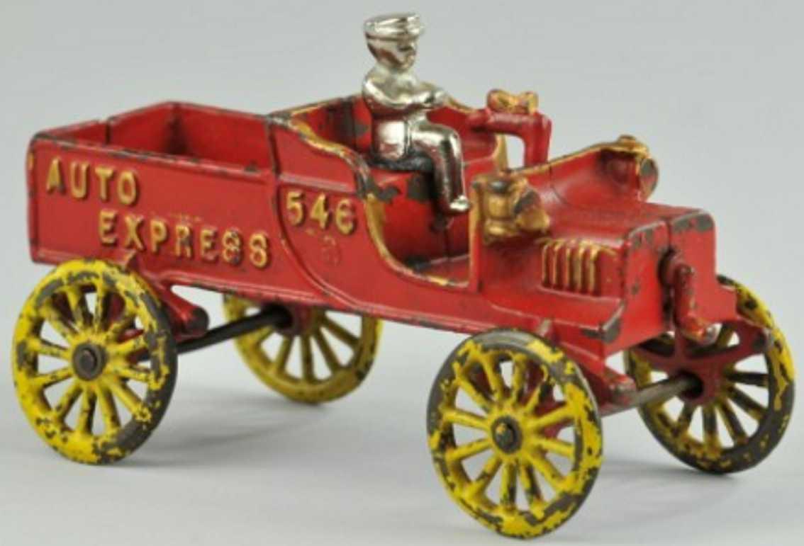 kenton hardware co 546 spielzeug gusseisen auto express rot