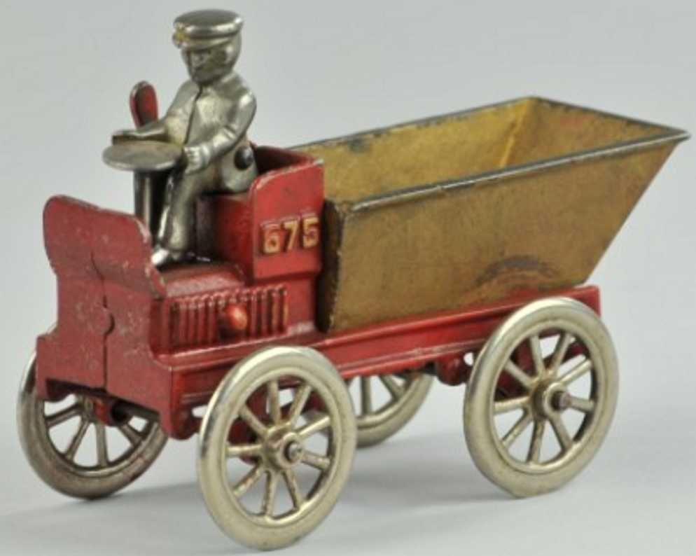 kenton hardware co 575 gusseisen kipplastwagen rot