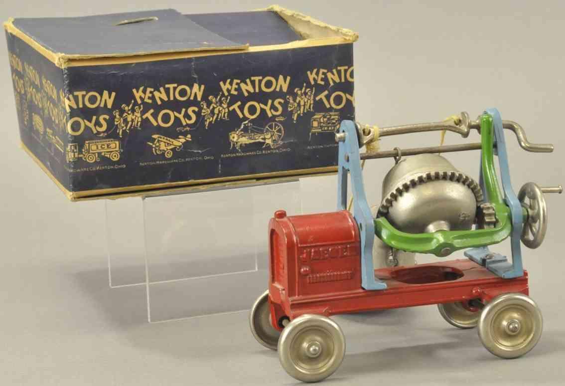 kenton hardware co 649 gusseisen jaeger zementmischmaschine rot blau vernickelt