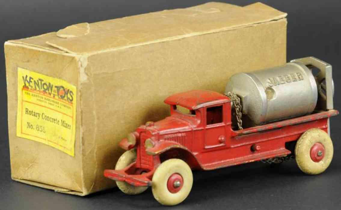 kenton hardware co 655 gusseisen jaeger zementlastwagen  rot