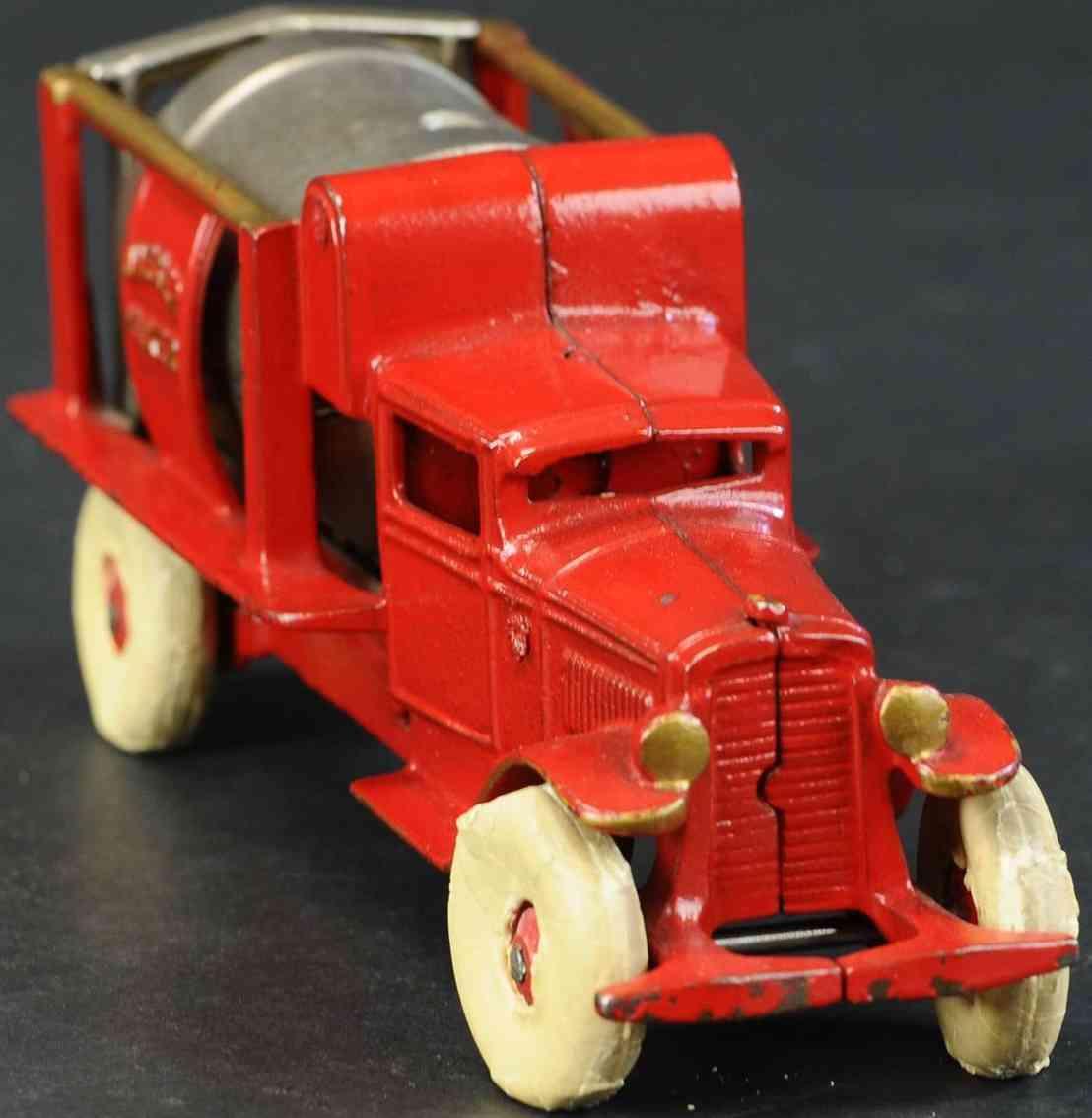 kenton hardware co 657r  spielzeug gusseisen jaeger zementmischwagen  rot