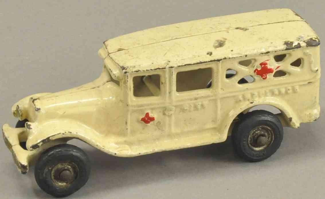 kenton hardware co spielzeug gusseisen krankentransportwagen weiss