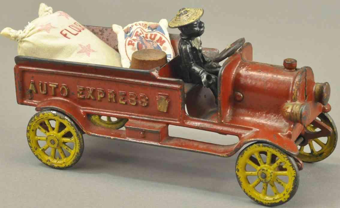 kenton hardware co spielzeug gusseisen lieferwagen rot dunkler fahrer auto express