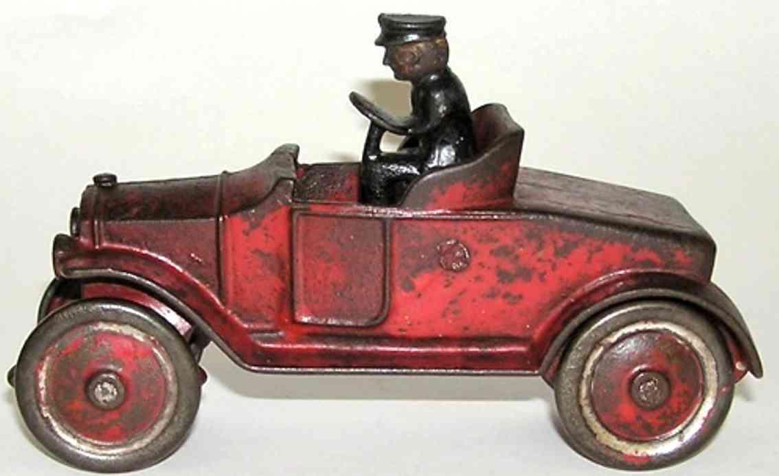 kenton hardware co spielzeug gusseisen offenes auto rot
