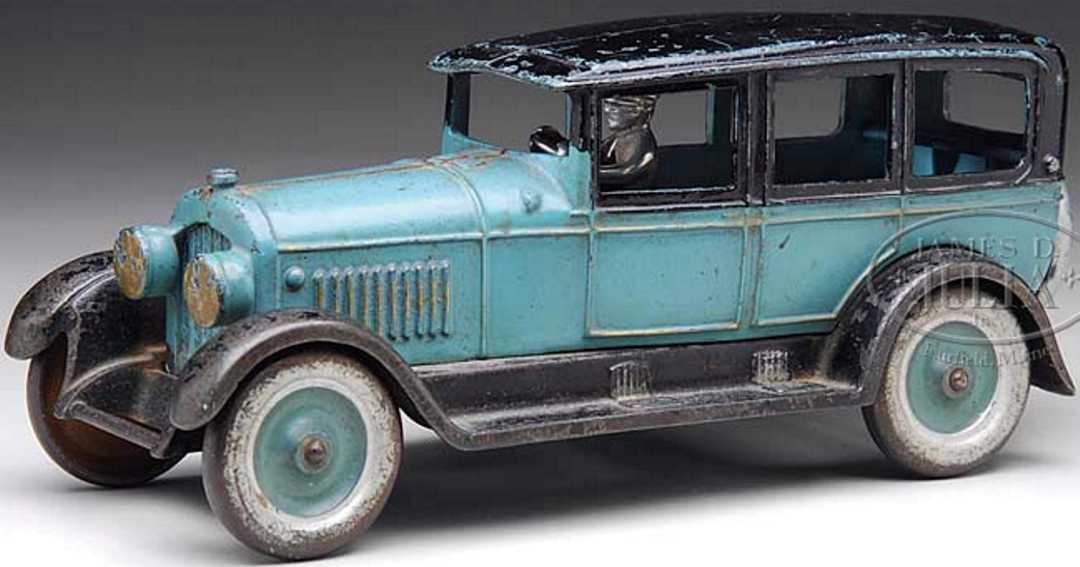 kenton hardware co spielzeug gusseisen klobiges auto blau