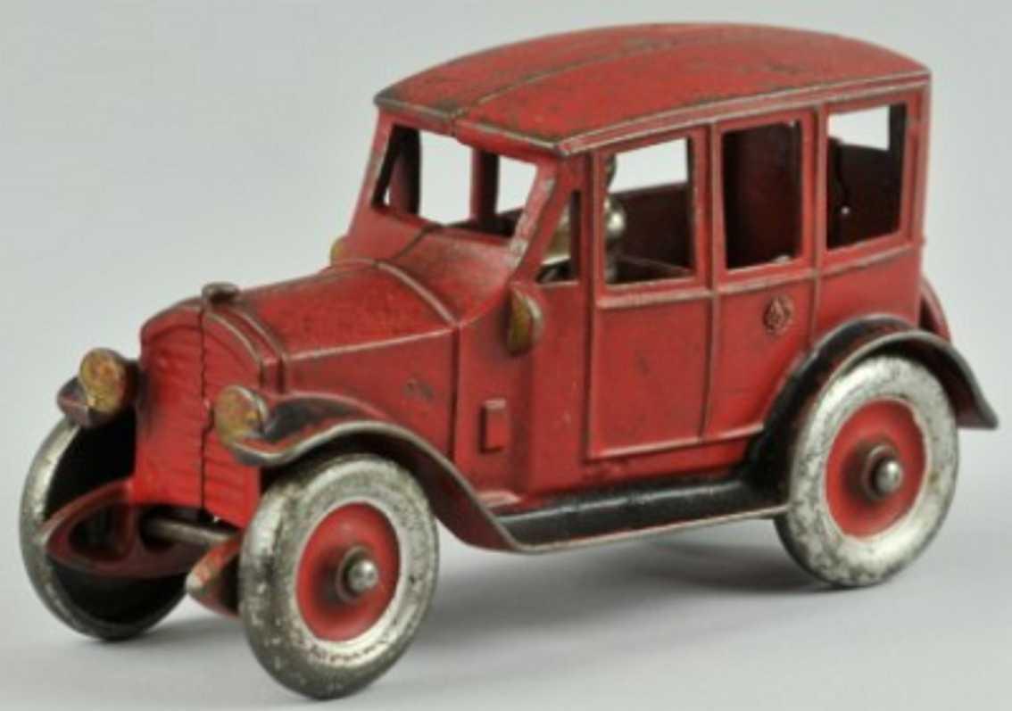 kenton hardware co spielzeug gusseisen auto rot