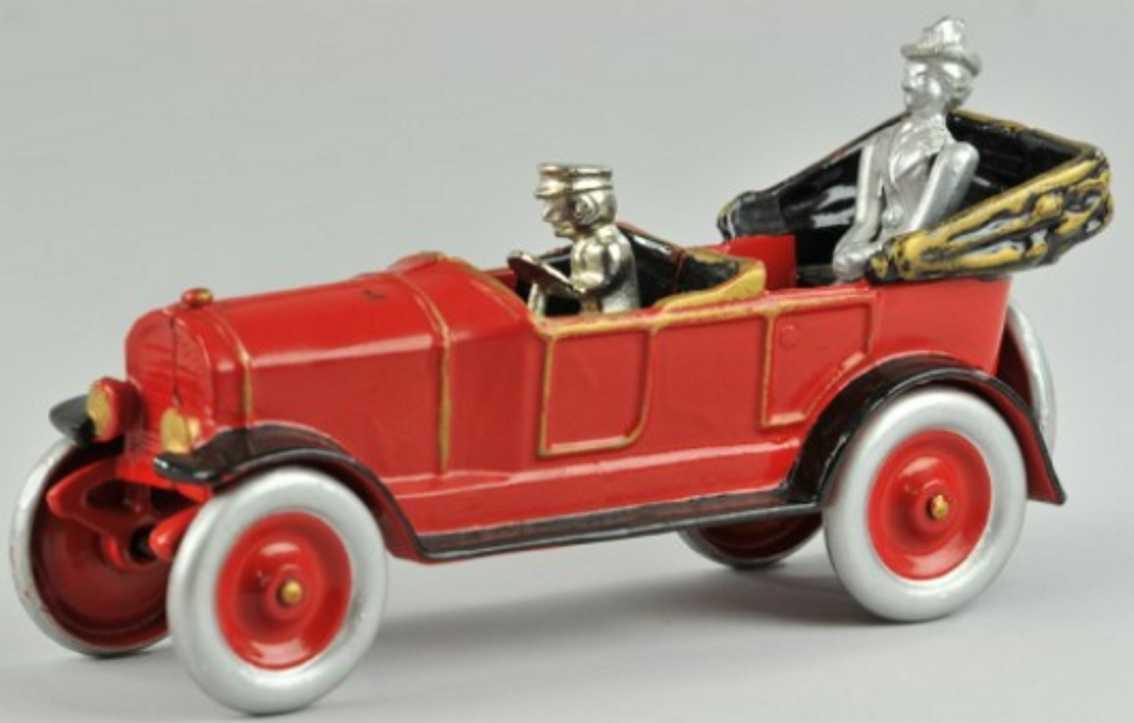 kenton hardware co spielzeug gusseisen auto tourenwagen rot