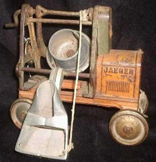 kenton hardware co 654 cast iron toy jaeger cement mixer