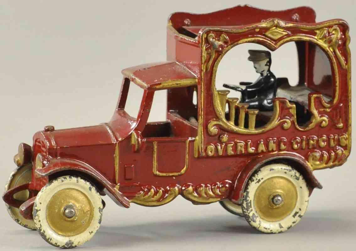 kenton hardware co spielzeug gusseisen ueberlandzirkuswagen orgel musiker