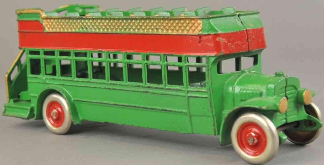 kenton hardware co spielzeug gusseisen doppeldecker stadtbus gruen rot