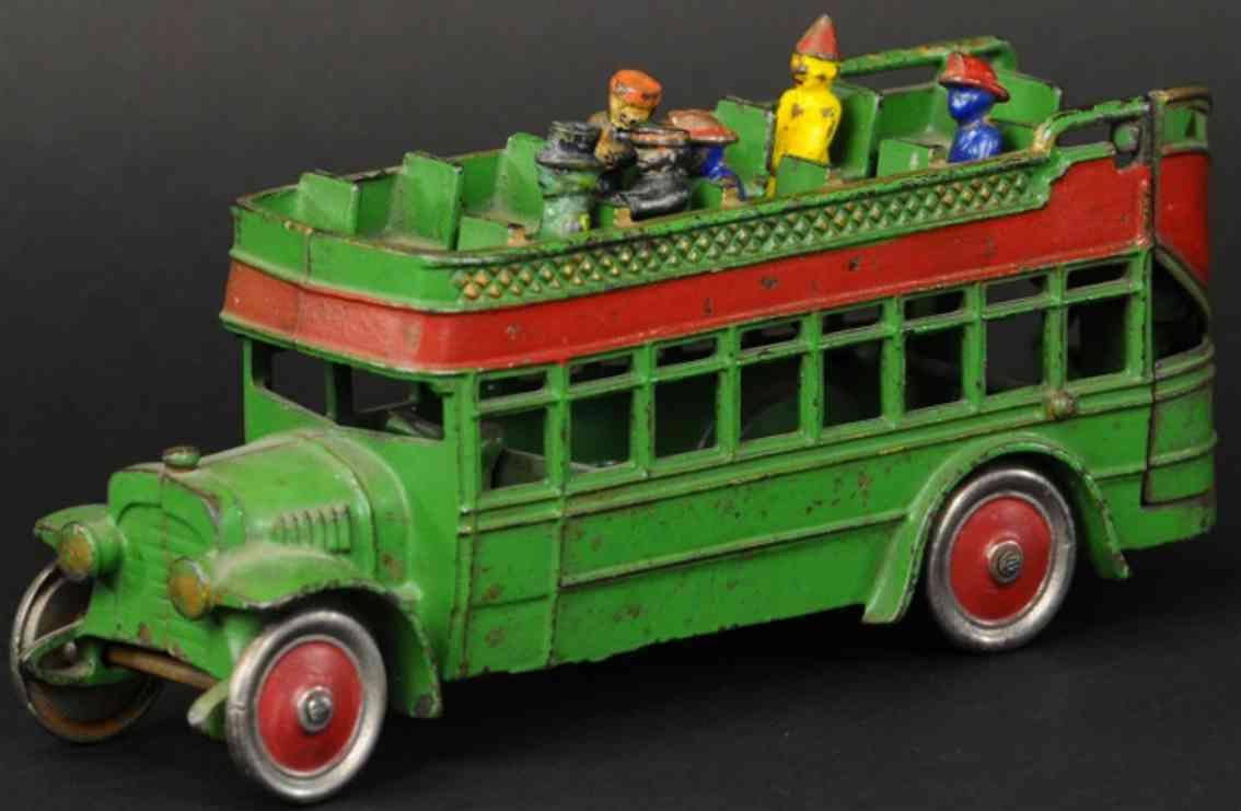 kenton hardware co spielzeug gusseisen stadtbus gruen