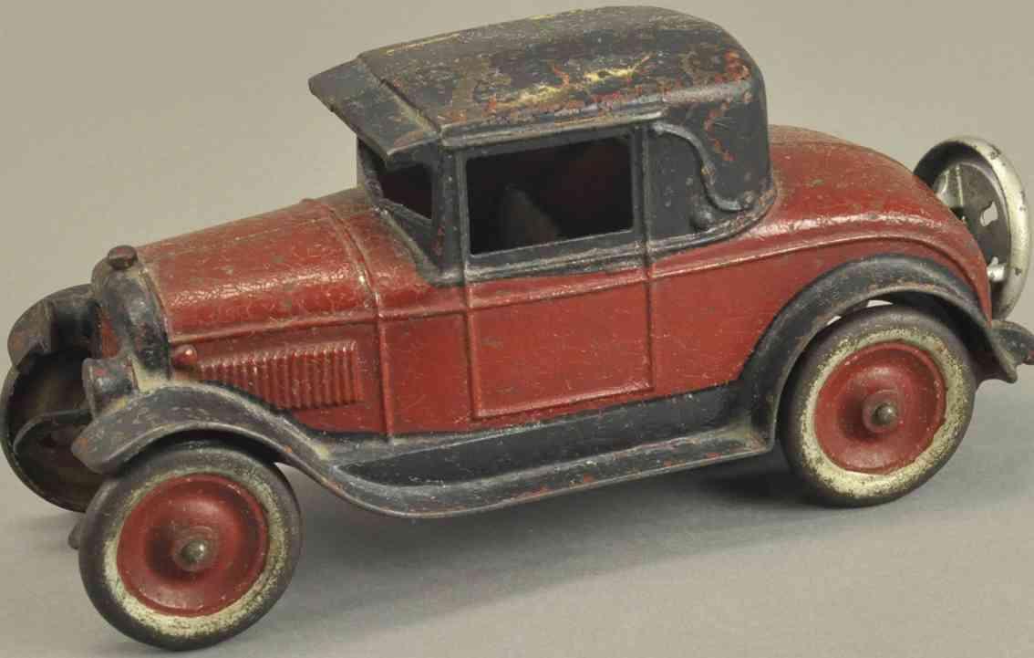 kenton hardware co spielzeug gusseisen auto rot schwarz