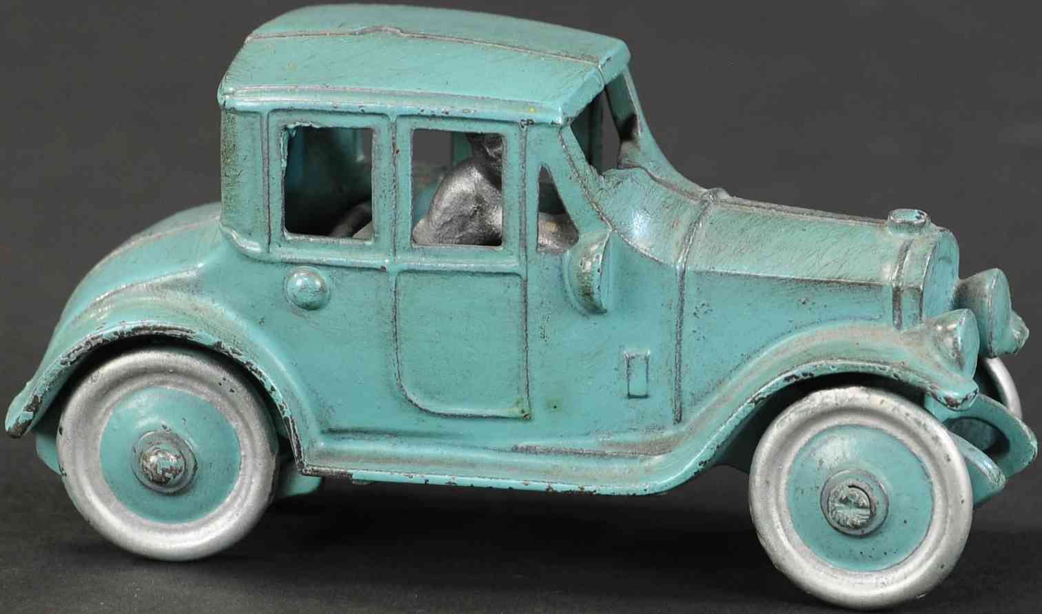 kenton hardware co blue cast iron toy car salesman sample coupe blue
