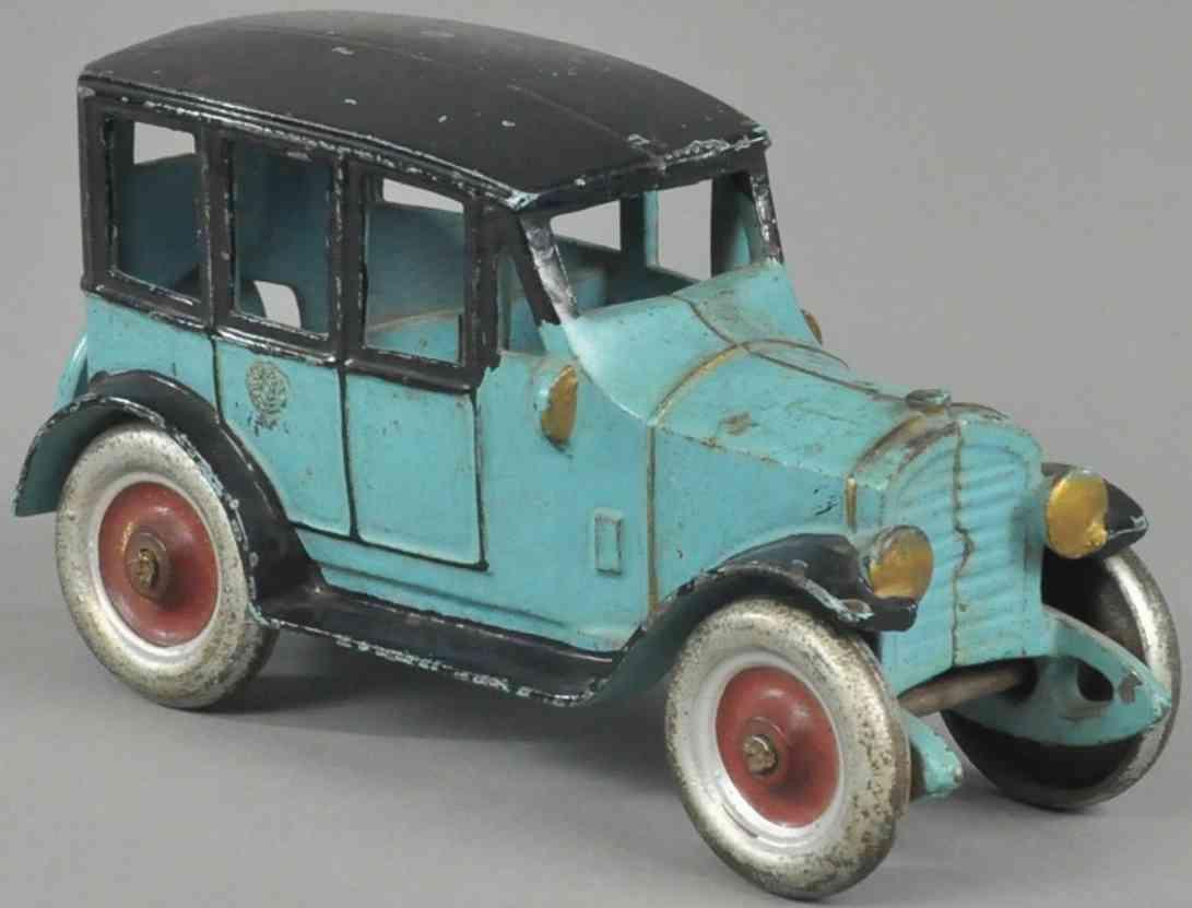 kenton hardware co spielzeug gusseisen auto coupe blau schwarz