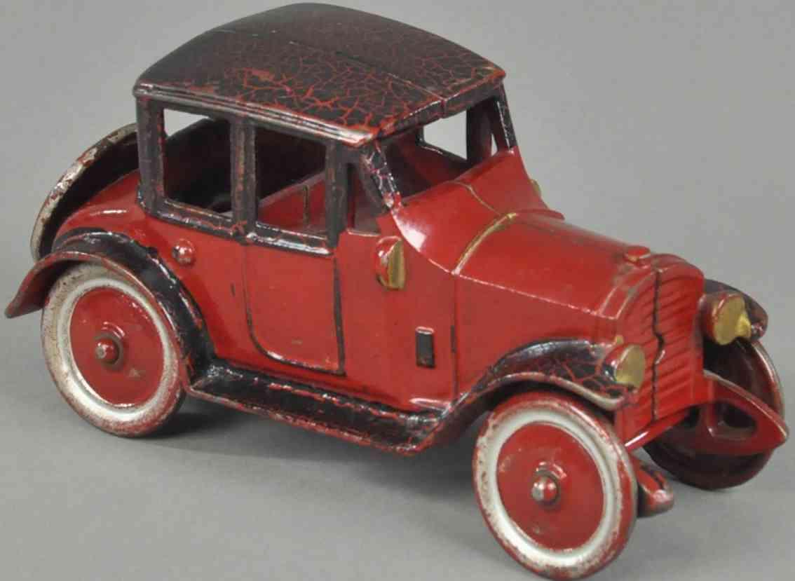 kenton hardware co spielzeug gusseisen auto coupe rot