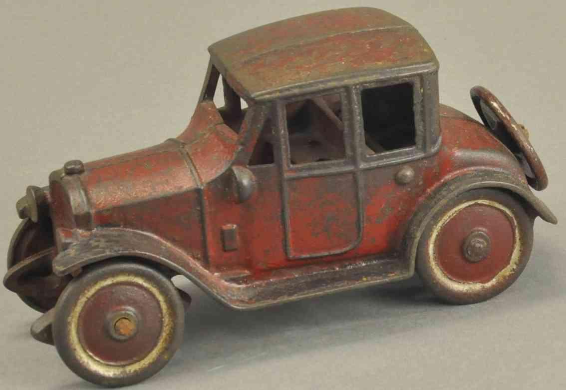 kenton hardware co spielzeug gusseisen auto coupe rot schwarz