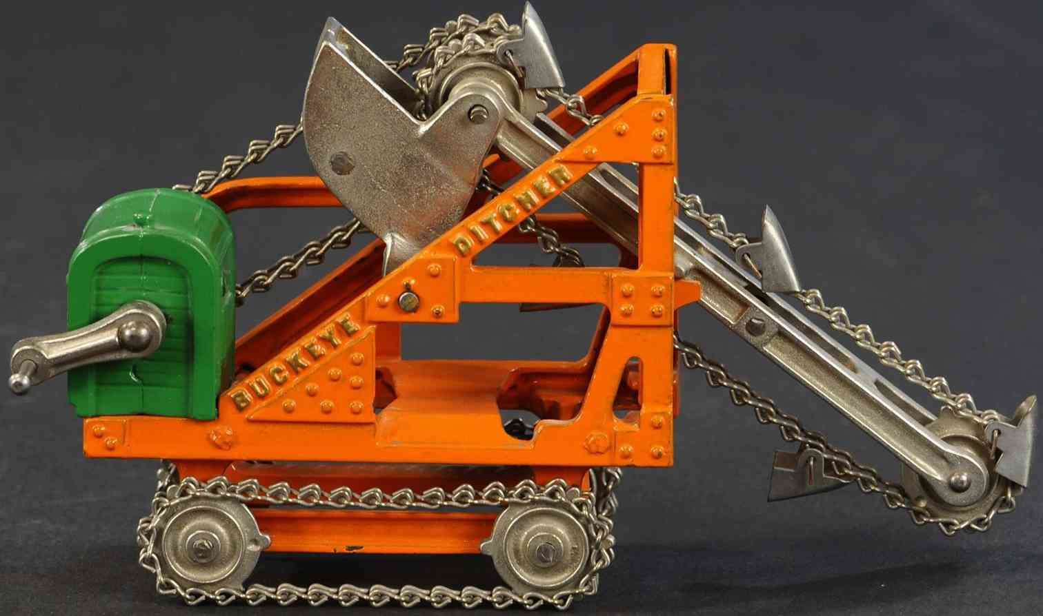 kenton hardware co cast iron toy buckeye digger toy