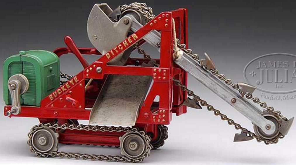 kenton hardware co cast iron toy buckey ditcher