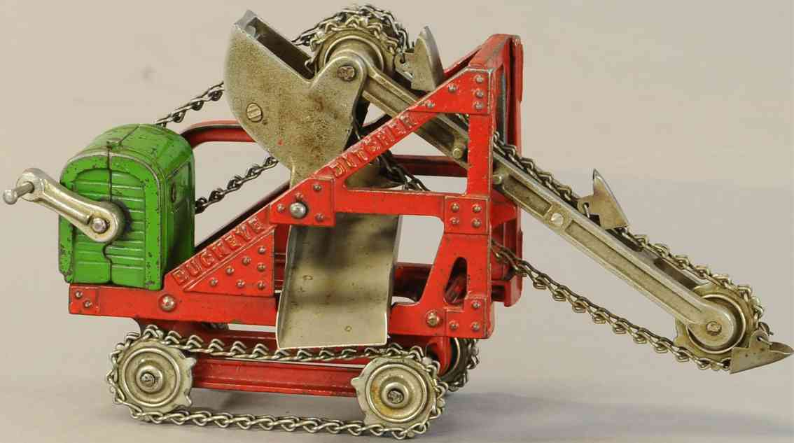 kenton hardware co cast iron toy buckeye ditcher