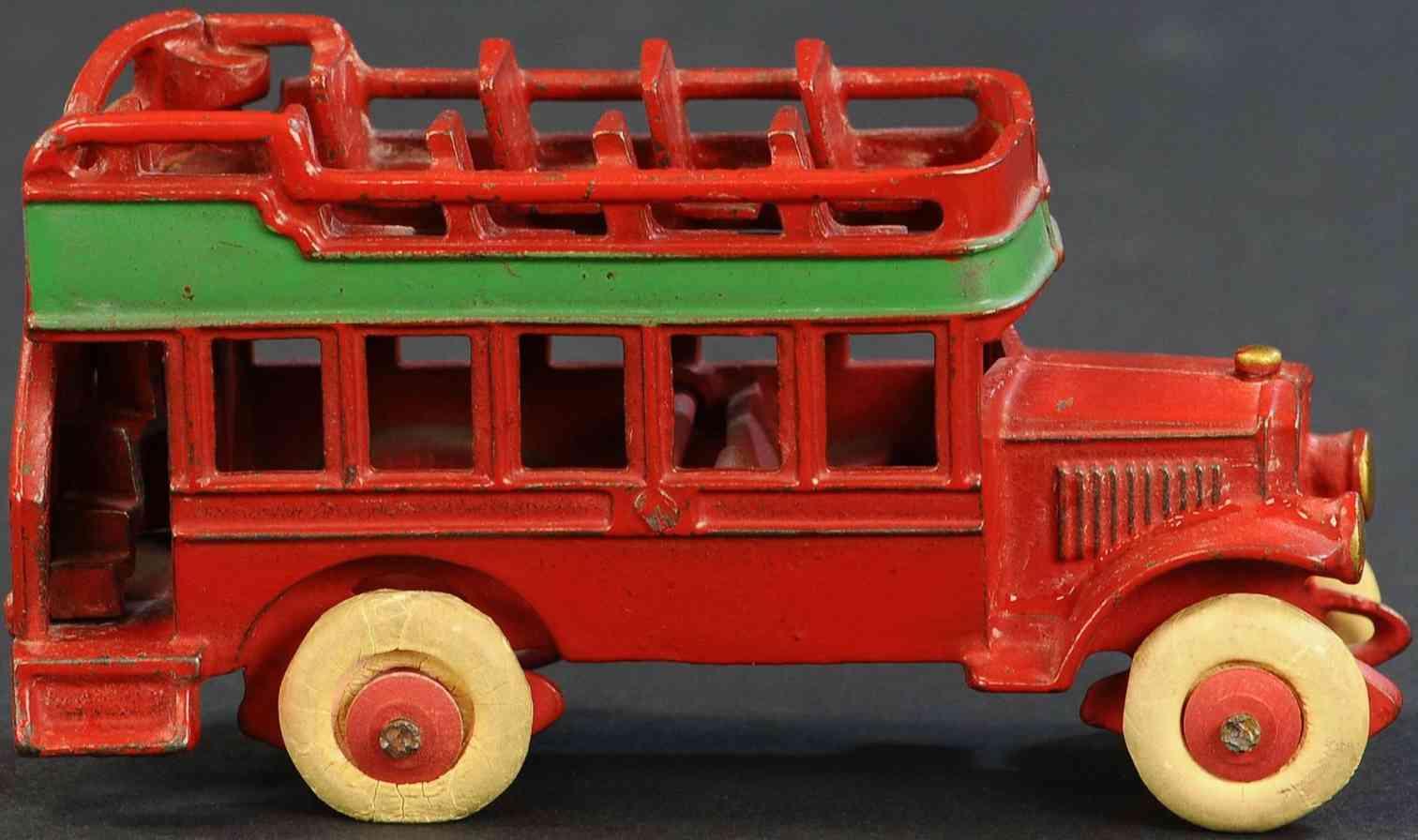kenton hardware co 519 spielzeug gusseisen doppeldeckerbus figuren rot