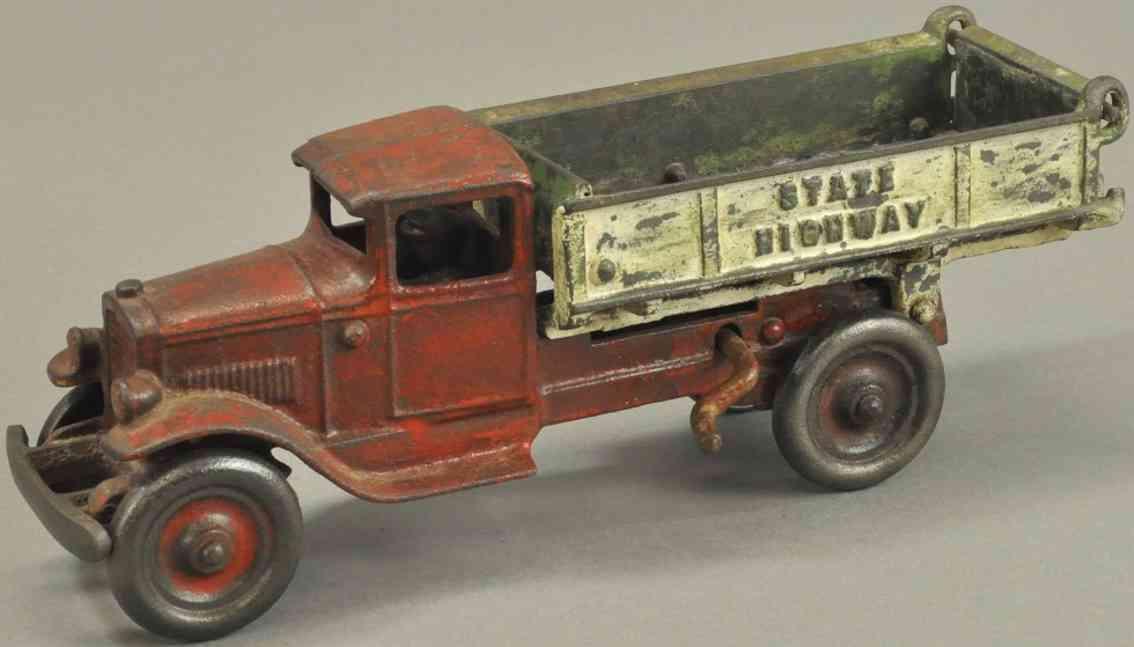 kenton hardware co spielzeug gusseisen kipplastwagen rot