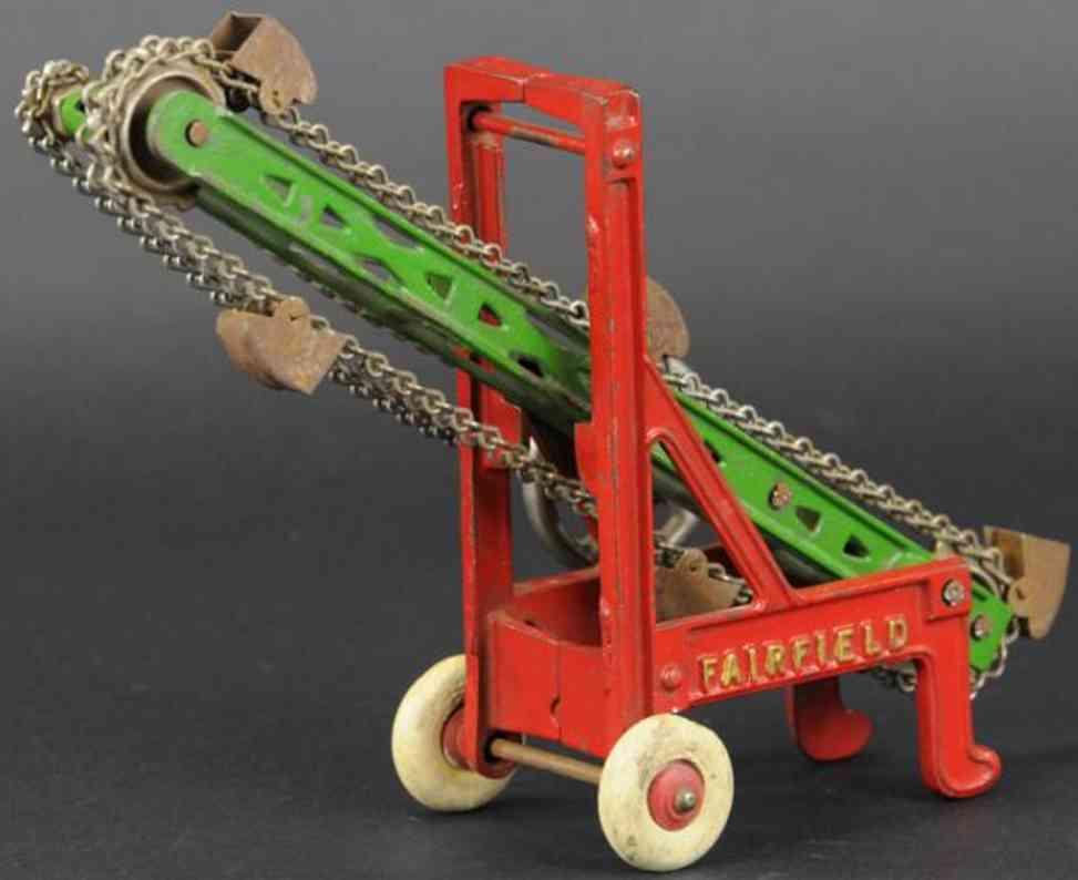 kenton hardware co cast iron toy fairfield ditcher red green