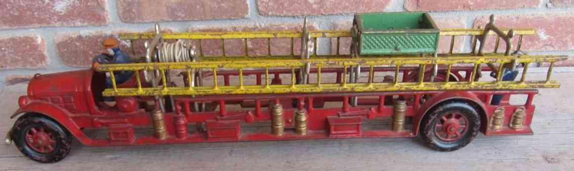 kenton hardware co spielzeug gusseisen feuerwehrleiterwagen