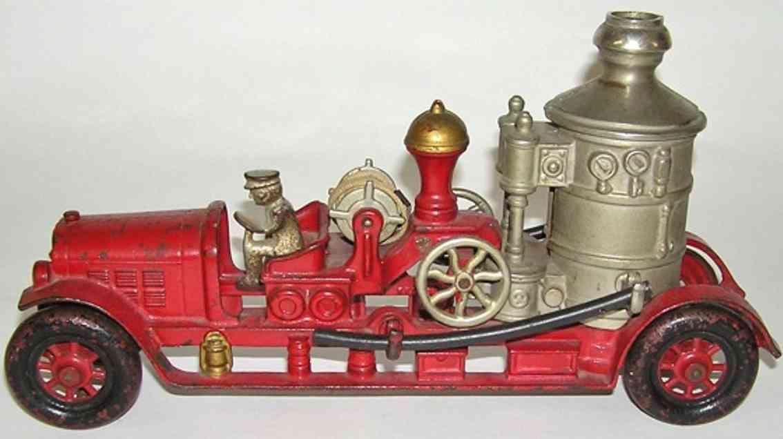 kenton hardware co cast iron fire pumper truck toy