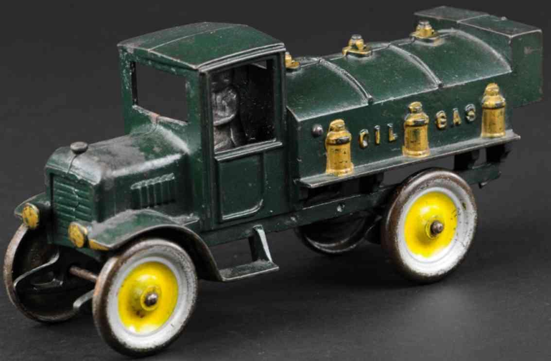 kenton hardware co spielzeug gusseisen tanklastwagen dunkelgruen