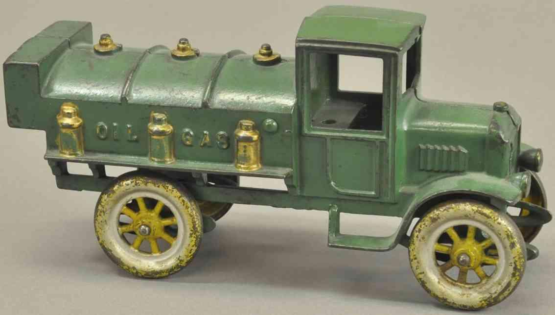 kenton hardware co spielzeug gusseisen tanklastwagen gruen