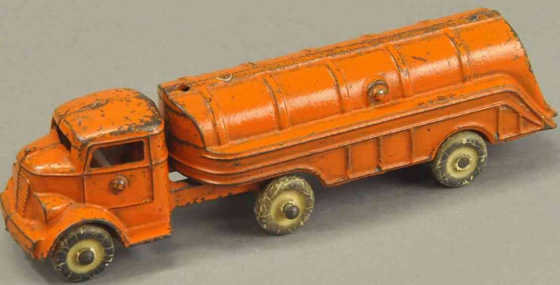 kenton hardware co spielzeug gusseisen tanklastwagen orange