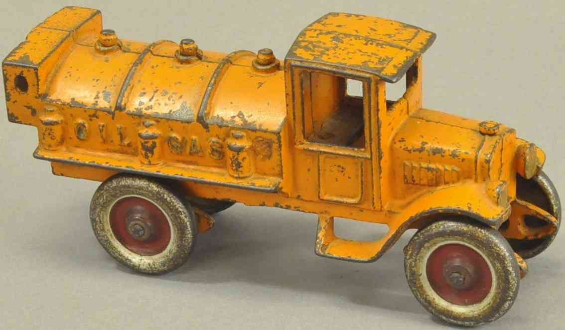 kenton hardware co spielzeug gusseisen tanklastwagen gelb oel gas