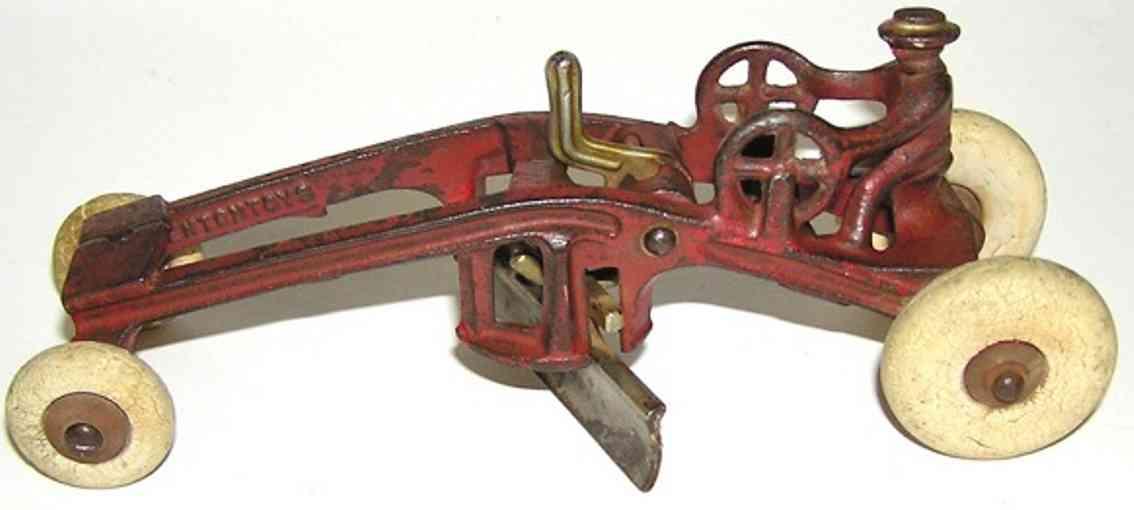 kenton hardware co 151 spielzeug gusseisen traktor straßenbaumaschine rot