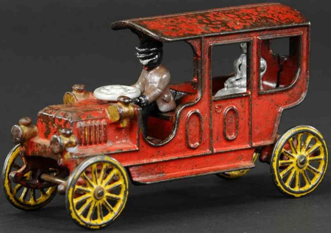 kenton hardware co gusseisen auto hansom auto rot fahrer passagier