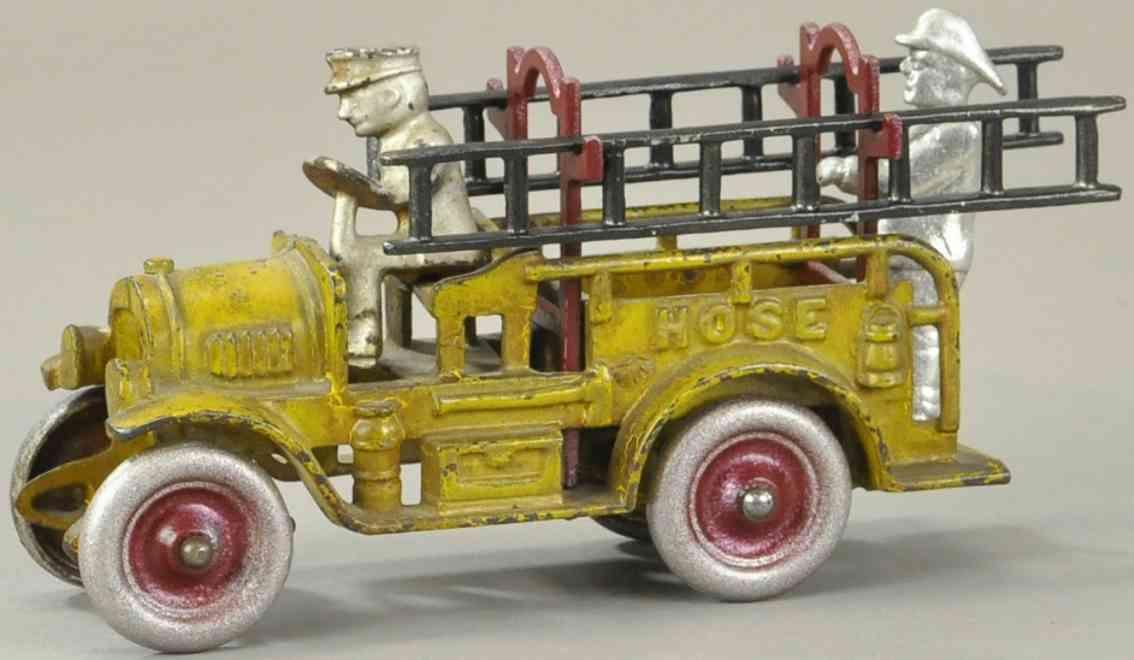 kenton hardware co spielzeug gusseisen schlauchwagen gelb