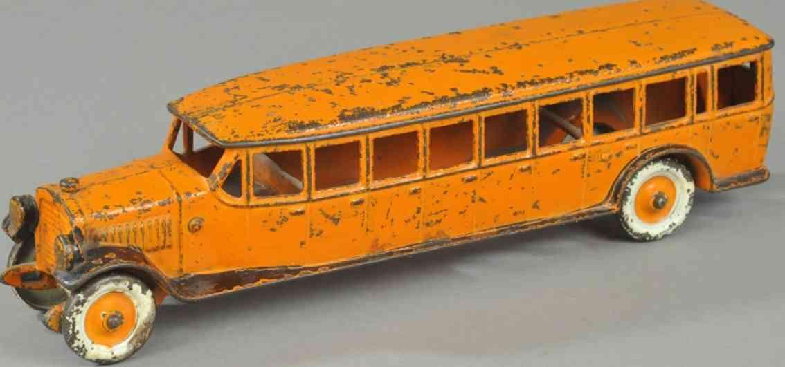 kenton hardware co spielzeug gusseisen ueberlandbus  orange
