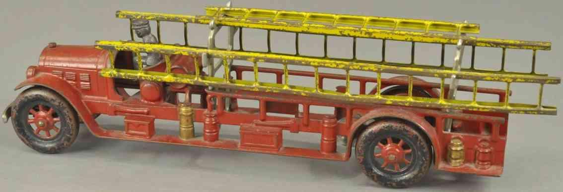 kenton hardware co spielzeug gusseisen feuerwehrleiterwagen rot elb