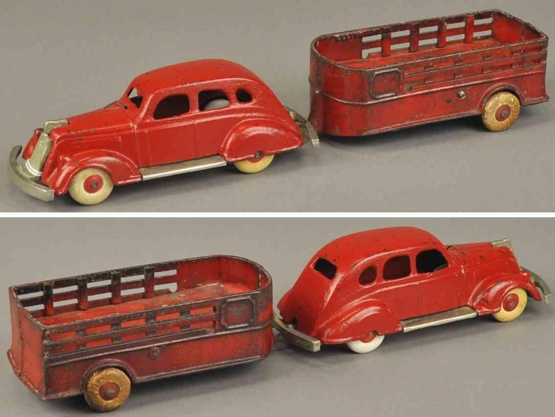 kenton hardware co spielzeug gusseisen nash lafayette auto mit ackerwagen rot