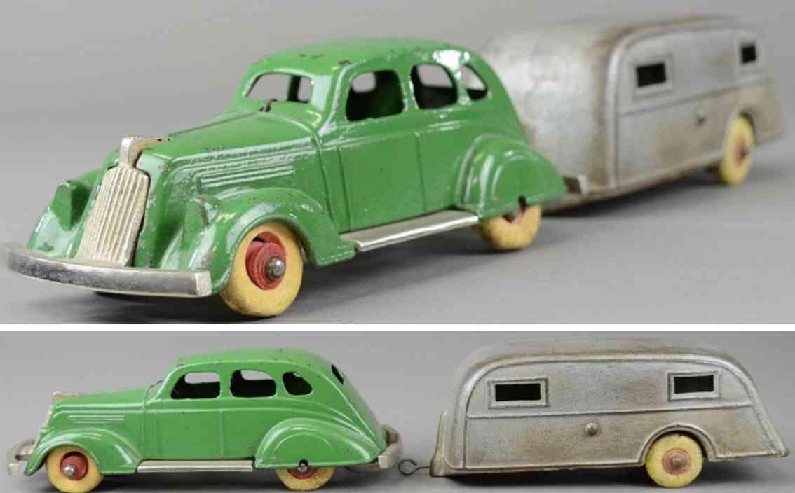 kenton hardware co gusseisen auto 1936 nash lafayette auto wohnwagen gruen silbern