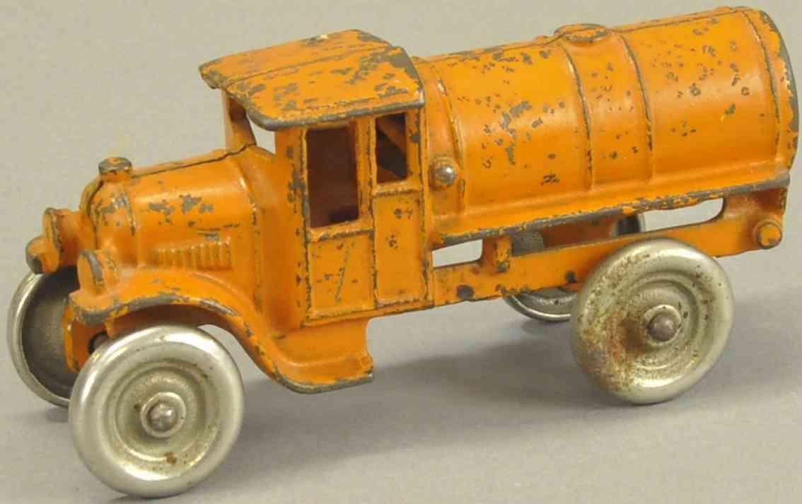kenton hardware co spielzeug gusseisen oel-tanklastwagen orange