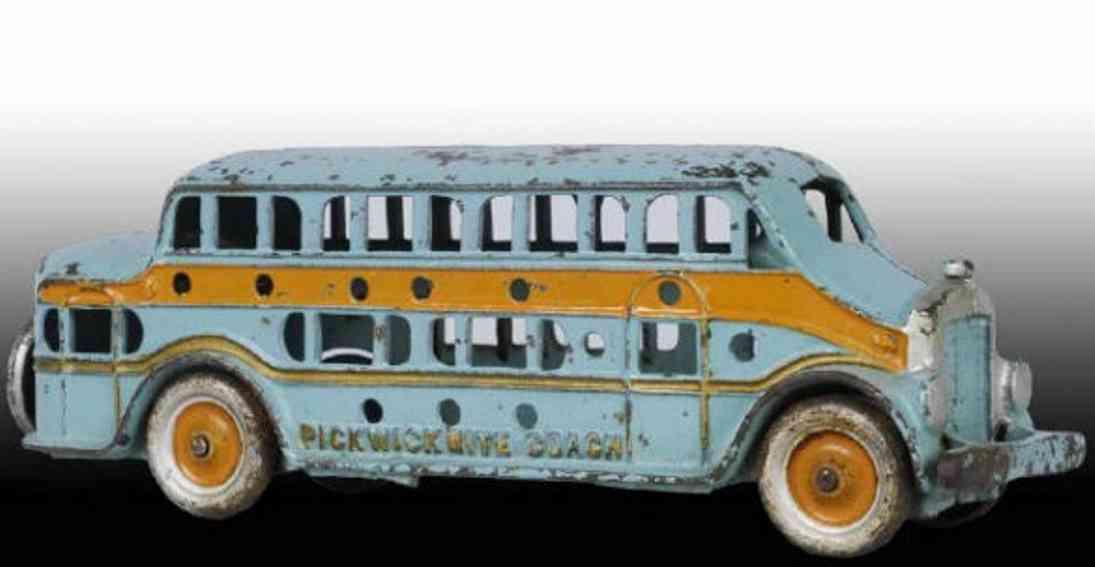 kenton hardware co 156 spielzeug gusseisen bus tuerkis