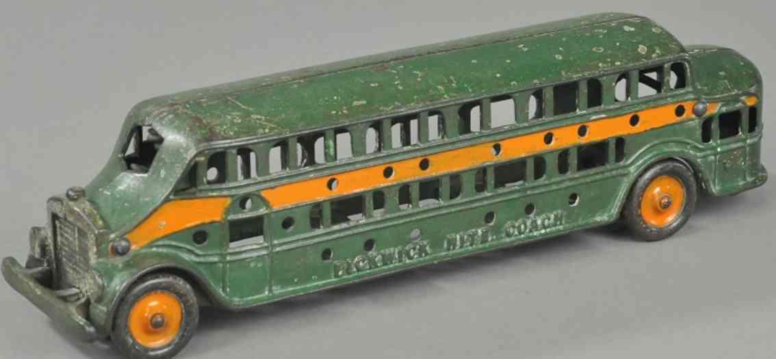 kenton hardware co spielzeug gusseisen pickwick ueberlandbus gruen orange