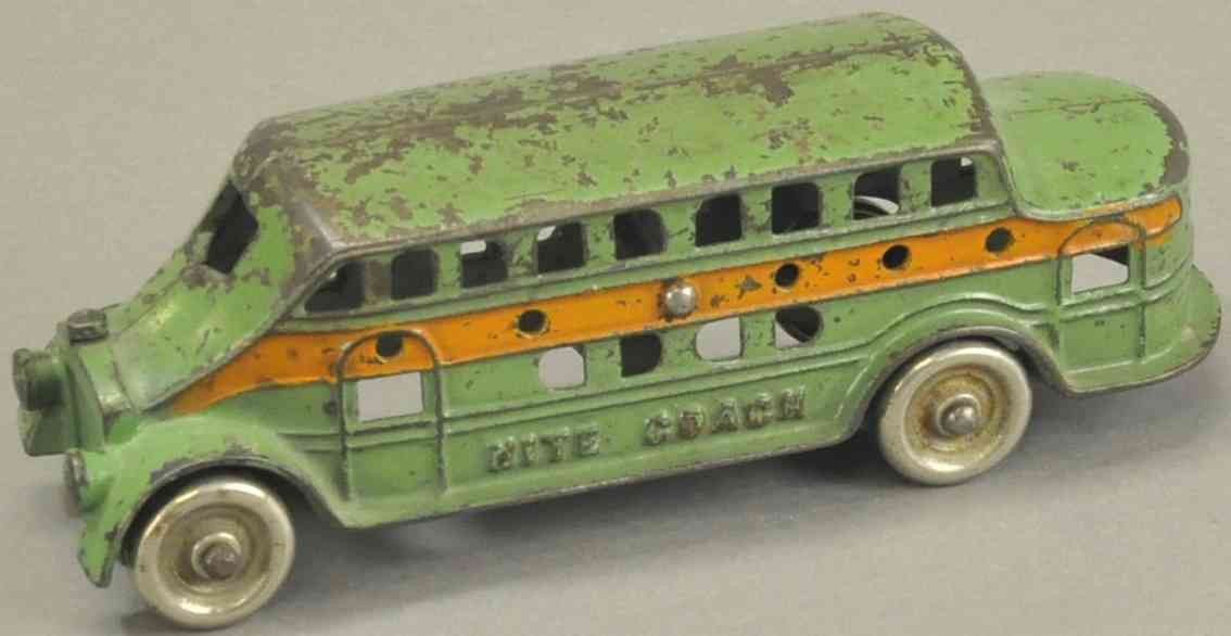 kenton hardware co spielzeug gusseisen reisebus gruen orange